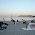 Pilates at sunset
