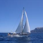 Sailing on Vagabond